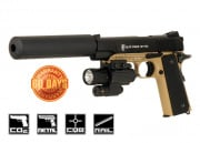 Elite Force 1911 Tactical CO2 Blowback Pistol Airsoft Gun ( Black / Dark Earth )