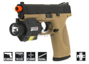 WE Military & Police GBB Airsoft Gun (Tan)