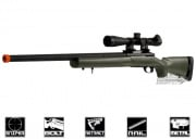 Javelin Airsoft Works Full Metal M24 Bolt Action Sniper Rifle Airsoft Gun ( OD )