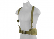 Lancer Tactical Molle Battle Belt w/ Suspenders (OD)