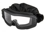 Lancer Tactical UV400 Airsoft Safety Clear Lens Goggles (Black)