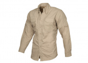 Lancer Tactical Ripstop Long Sleeve Shirt (Light Khaki/XS)