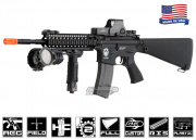"Airsoft GI G4-A1 w/ D.D. 9"" Lite Rail Full Stock Carbine Blowback Version AEG Airsoft Gun (Custom)"