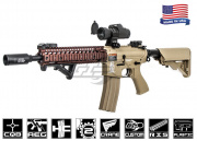 Airsoft GI G4-A2 Sand Hog w/ Daniel Defense SOPMOD RIS Blowback Version AEG Airsoft Gun (Custom/Tan)