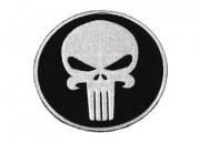 Action Velcro Patch - Large Skull (Circle)