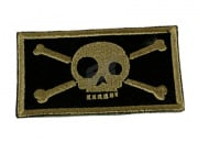 Action Velcro Patch - Large Skull and Crossbone (Black)