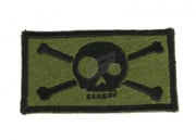 Action Velcro Patch - Large Skull and Crossbone (OD)