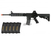 KWA KM4 SR10 2GX AEG Airsoft Gun PTS EPM Reload Bundle (Black)