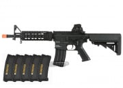 KWA KM4 SR7 DEVGRU 2GX AEG Airsoft Gun PTS EPM Reload Bundle (Black)