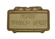 MM Front Toward Enemy Velcro Patch (Tan)
