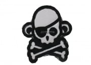 MM Monkey with Eye Patch Velcro Patch ( White )