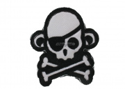 MM Skullmonkey Pirate Velcro Patch (Swat)