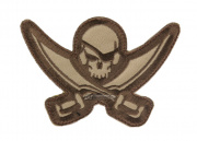 MM Pirate Skull Diecut Patch ( Arid )