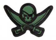 MM Pirate Skull Diecut Patch (OD)
