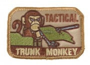 Mil-Spec Monkey Trunk Monkey Velcro Patch ( Tan )