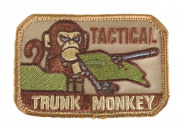 MM Trunk Monkey Velcro Patch ( Tan )