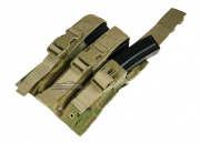 Condor Outdoor MOLLE Triple SMG Pouch ( Multicam )