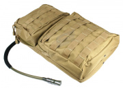 Condor Outdoor MOLLE Hydration Carrier w/ Zipper Pockets (Tan)