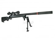JG Full Metal BAR 10 G-Spec Bolt Action Sniper Rifle Airsoft Gun (BLK/Scope Package)