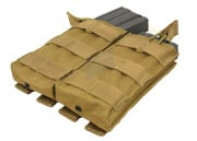 Condor Outdoor Double Open-Top M4 Magazine Molle Pouch (Tan)