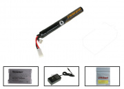 SOCOM Gear 11.1v 1000mAh 3s LiPO Stick Battery Package (Battery, Charger & Liposack)
