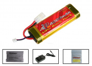 TSD 7.4V 4000mah LiPo Large Battery Package (Battery, Charger & Liposack)
