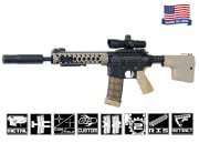 Airsoft GI Custom Troy 2 Tone Silenced Battle Rifle Airsoft Gun