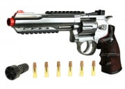 "WG Full Metal/Fake Wood 6"" Revolver CO2 Airsoft Gun"