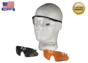 Bobster Shooting Glasses w/ 3 Interchangeable Lenses