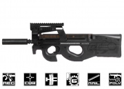 FN Herstal P90 Tactical (by King Arms) AEG Airsoft Gun w/ Barrel Extension