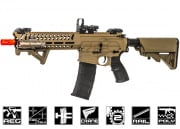 Lancer Tactical Elite Polymer Multi Mission 10.5 RIS Carbine (MMC) AEG Airsoft Gun (Tan/Low FPS)