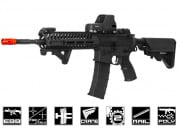 Lancer Tactical Elite Electric Recoil Multi Mission 14.5 RIS Carbine (MMC) AEG Airsoft Gun (Black/Polymer)