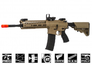 Lancer Tactical Elite Polymer Multi Mission 14.5 RIS Carbine (MMC) AEG Airsoft Gun (Tan)