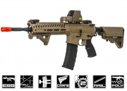 Lancer Tactical Elite Electric Recoil Multi Mission 14.5 RIS Carbine (MMC) AEG Airsoft Gun (Tan/Polymer)