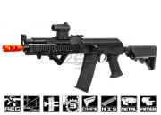 Lancer Tactical Full Metal Gearbox Tactical AK AEG Airsoft Gun (Black/Metal Body)