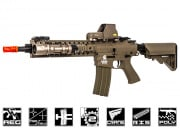 Lancer Tactical Full Metal Gearbox M4 RIS EVO AEG Airsoft Gun (Tan/Polymer Body)