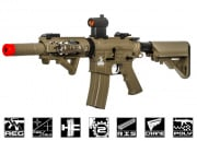 Lancer Tactical Full Metal Gearbox M4 RIS SD AEG Airsoft Gun (Tan/Polymer Body)
