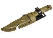 Lancer Tactical Plastic Dummy SG Style M37-K Seal Pup Knife w/Holster (Tan)
