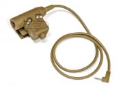 Lancer Tactical Push-To-Talk (PTT) 03 Style U94 For Motorola BM/SEL 1 Pin Version (Dark Earth)