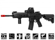 Lancer Tactical Elite Polymer Multi Mission 14.5 RIS Carbine (MMC) AEG Airsoft Gun (Black)