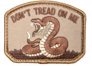 Mil-Spec Monkey Don't Tread On Me Patch (Desert)
