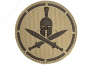 MM Spartan Helmet PVC Patch (Desert)