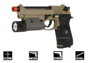 WE Full Metal M9 Airsoft Gun (Tan)