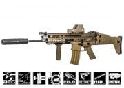 WE Full Metal SCAR-L MK16 STD AEG Airsoft Gun (Tan)