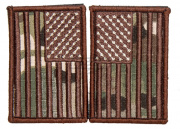 Lancer Tactical American Flag Patch Set (Camo)
