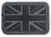Lancer Tactical UK Flag PVC Patch (Black)