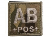 Lancer Tactical Blood Type AB Patch Velcro (Camo)