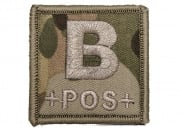 Lancer Tactical Blood Type B Patch Velcro (Camo)