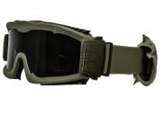 Lancer Tactical CA-221B Airsoft Safety Smoke Lens Goggles Vented (OD Green)