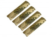 Lancer Tactical Diamond Plate Long Rail Cover 4 PC. Set (Camo)